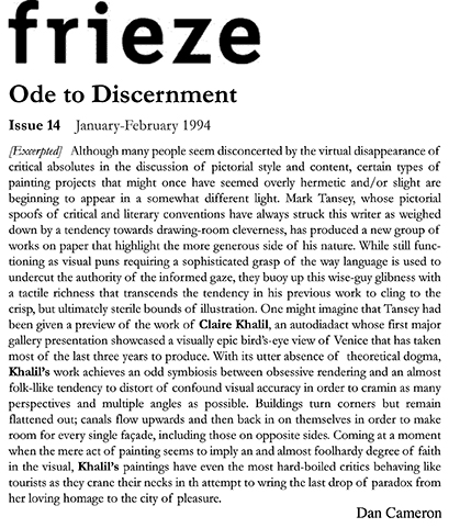 Frieze by Dan Cameron